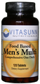 Men's Food Based Multivitamin 120 Tablets by Vitasunn