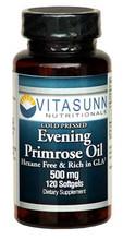 Evening Primrose Oil 500mg 120 Softgels by VITASUNN