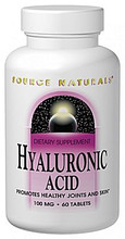 Hyaluronic Acid 50mg 60 tablets by Source Naturals