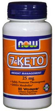 7-Keto 25mg 90 V-Capsules by NOW