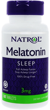 Melatonin Timed Release 3mg 100 tablets by Natrol