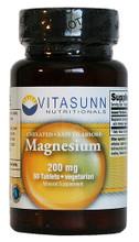 Magnesium 200mg 60 Vegetarian Capsules by Vitasunn Nutritionals