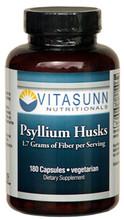 Psyllium Husk 500mg 180 Vegetarian Capsules by Vitasunn Nutritionals