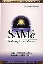 SAM-e 400mg 30 Enteric Coated Tablets by Source Naturals