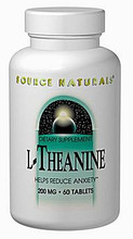 L-Theanine 200mg 60 Capsules by Source Naturals