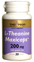 L-Theanine 200mg, 30 Vegan Capsules by Thompson's Nutrition