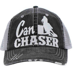 Can Chaser (Rodeo Hat) - Distressed Grey Trucker Cap
