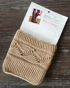 Cable Knit Boot Cuffs - Natural