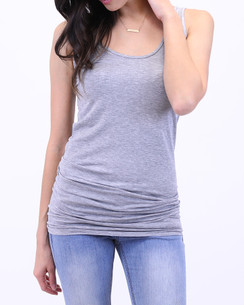 Perfect Fit Tank - Original Long™ - Heather Grey