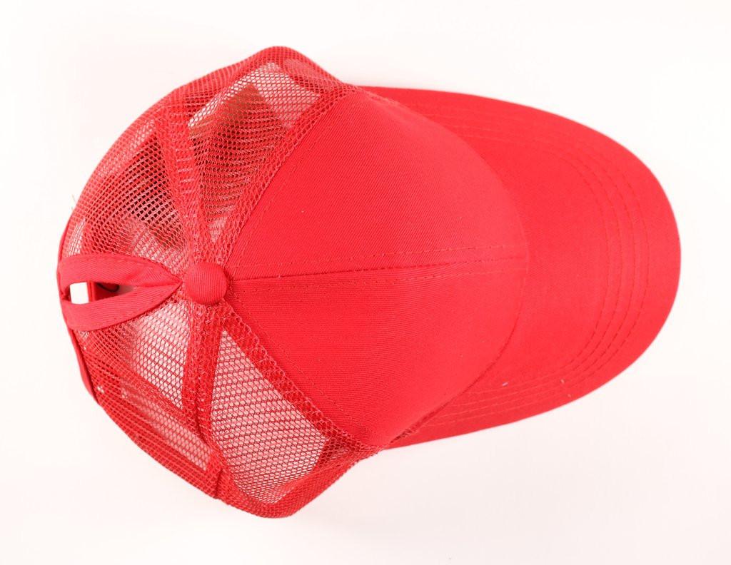 dec948f0d99 CC Beanie Classic High Pony Tail Hat - Red - Sublime Boutique