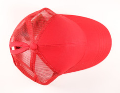 CC Beanie Classic High Pony Tail Hat - Red