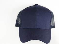 CC Beanie Classic High Pony Tail Hat - Navy