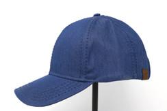 CC Beanie Cotton High Pony Tail Hat - Denim