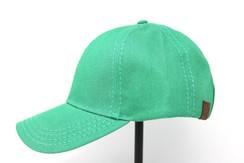 CC Beanie Cotton High Pony Tail Hat - Green