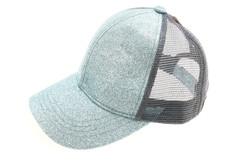 CC Beanie Glitter High Pony Tail Hat - Mint