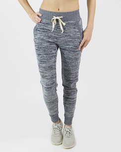 Grace and Lace Snow Day Joggers - Space Dyed Navy