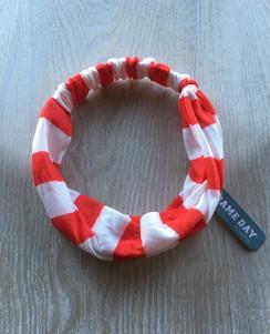 Headband - Red White Thick