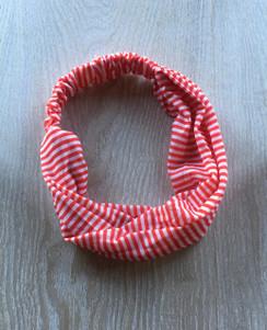 Headband - Red White Thin
