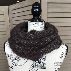 Tickled Pink Knit Winter Infinity Scarf - CWL822 - Brown