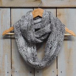 Tickled Pink Knit Winter Infinity Scarf - FIN510- Beige