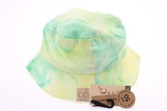 Kids Tie Dye Reversible CC Bucket Hat - Mint/Lime