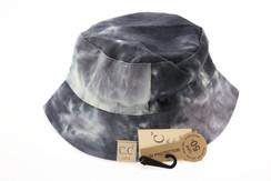 Kids Tie Dye Reversible CC Bucket Hat - Black/Grey