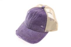 Washed Mesh Back Cotton Classic CC Ballcap - Violet