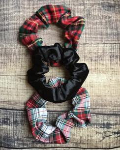 Soft & Sassy - Holiday Plaid, Black Velvet - 3pk