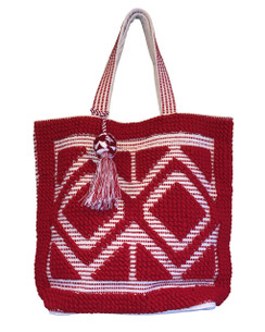 Chloe and Lex - Double Diamond Tote - Red