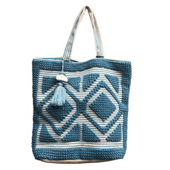 Chloe and Lex - Double Diamond Tote - Turquoise