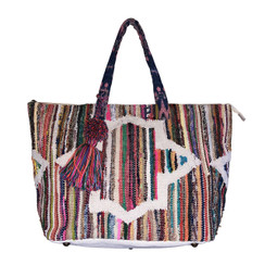Chloe and Lex - Rainbow Stripes Tapestry Tote
