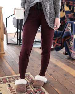 Grace and Lace Snow Day Joggers - Wine