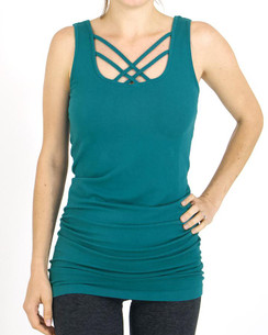 Grace and Lace Perfect Fit Strappy Tank - Teal