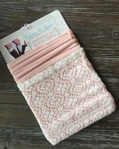 London Lace Cuffs - Blush