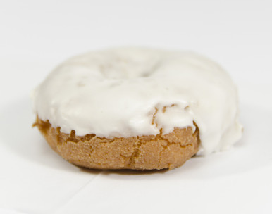 White Iced Cake Donuts