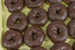 Chocolate Iced Cake Donuts