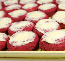 Red Velvet White Iced Donuts