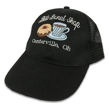 Embroidered Black Cap with White Script
