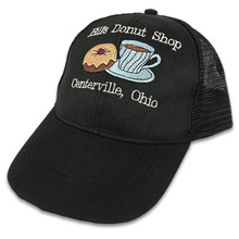 Embroidered Black Cap with White Text