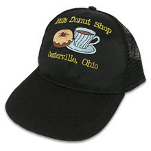 Embroidered Black Cap with Yellow Text