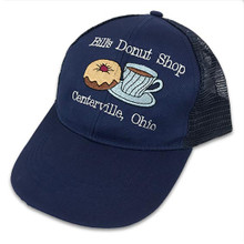 Embroidered Blue Cap with White Text