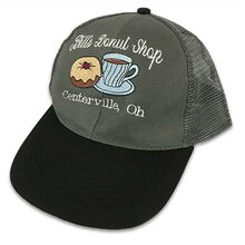 Embroidered Grey Cap with White Script