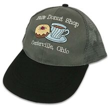 Embroidered Grey Cap with White Text