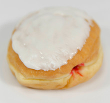 White Iced Jelly Donuts