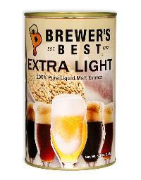 BREWERS BEST EXTRA LIGHT LIQUID MALT EXTRACT 3.3 LB