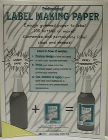 Yellow Label Making Paper