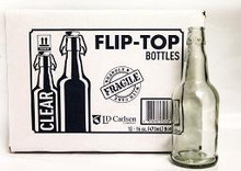 16oz Clear Flip Top Bottles