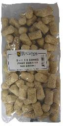 9X1 1/2 FIRST QUALITY STRAIGHT WINE CORKS 38X23mm 100/BAG