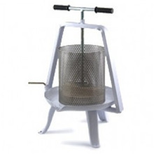 Solid Metal Table Press w/ Stainless Steel Basket