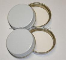 WHITE METAL SCREW CAP 38MM 4PK